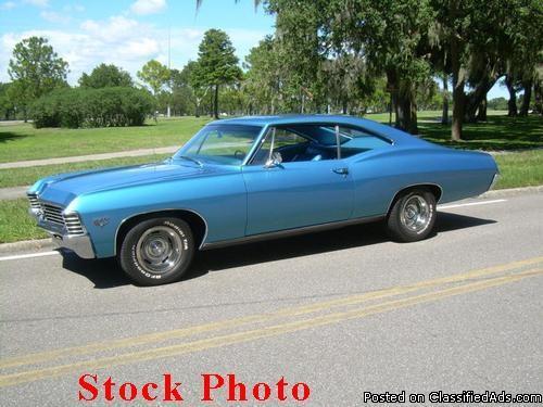 1967 Make Chevrolet Model Impala 1967 Chevy Impala Hardtop For Sale