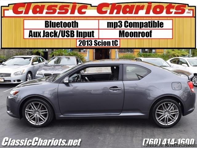 Used Car Near Me – 2013 Scion tC with Bluetooth, Moonroof, AUX & USB Input For Sale in Oceanside – Stock # 12337