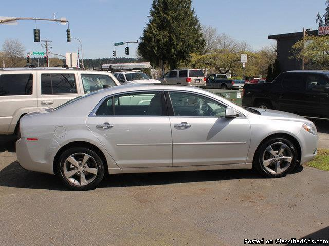 2012 Chevrolet Malibu 1LT Silver Ice Metallic Sedan I4