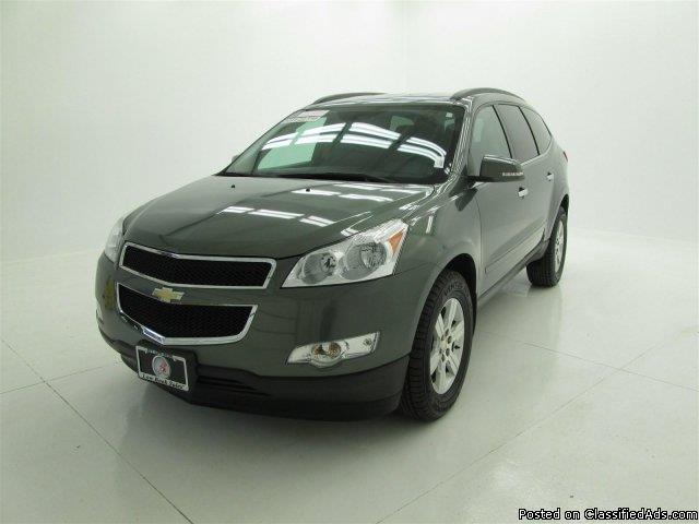 used 2011 chevrolet traverse lt steel green metallic suv. Black Bedroom Furniture Sets. Home Design Ideas