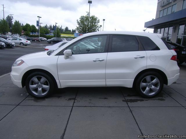 2008 Acura RDX Technology White Diamond Pearl SUV I4