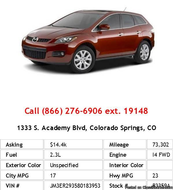 2008 Mazda Cx-7 Unspecified SUV I4