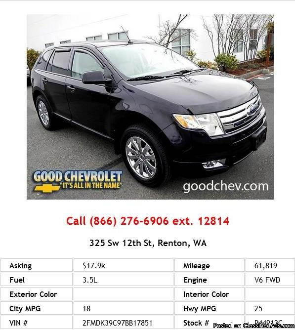 2007 Ford Edge Sel Plus SUV V6