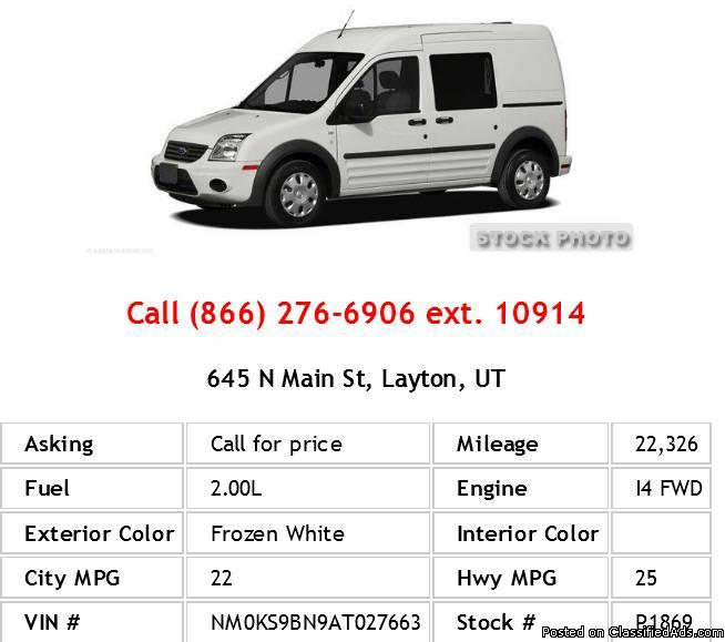 2010 Ford Transit Connect Wagon XLT Frozen White Mini-Van I4