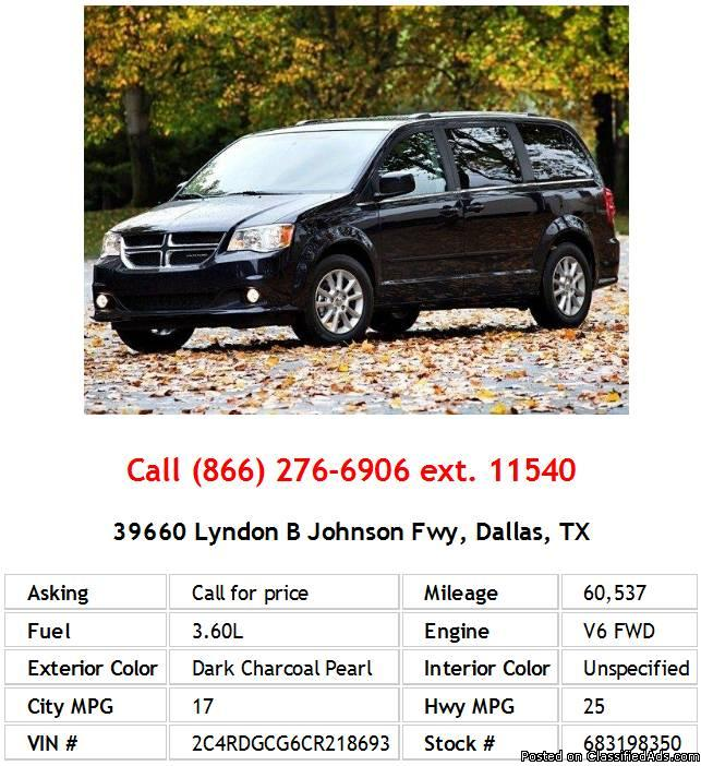 2012 Dodge Grand Caravan SXT Dark Charcoal Pearl Mini-Van V6